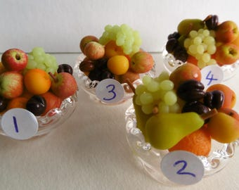 12th scale fruit dish with a large display of luscious fruit, highly detailed
