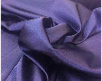 Deep Purple Stretch Satin, polyester spandex satin fabric shiny stretch satin fabric dress shirt lingerie