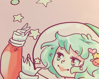Space Girl Print