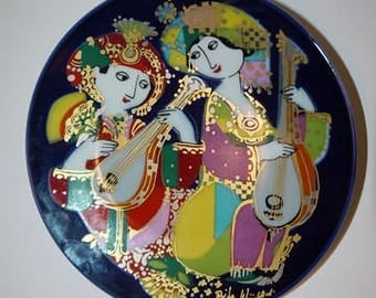 Björn Wiinblad - Rosenthal - Studio Line - Wall Plate - Nightmusic - Colorful - Germany