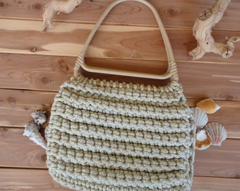 Macrame Purse With Large Handles