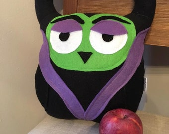 Maleficent Owl Plushie- Inspired by The Maleficent Character in Snow White- Plush character owls
