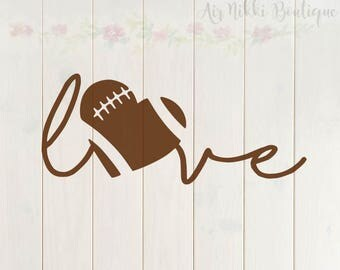 Football Love, football heart, sports SVG, PNG, DXF files, instant download