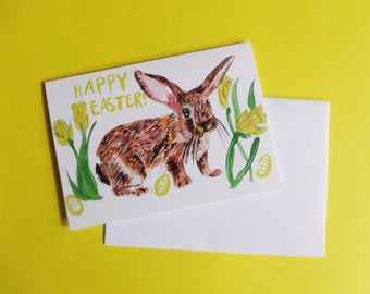 Easter A6 Greeting Card