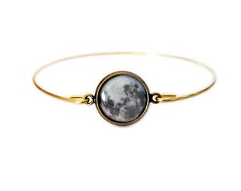 Full Moon Bronze Bangle