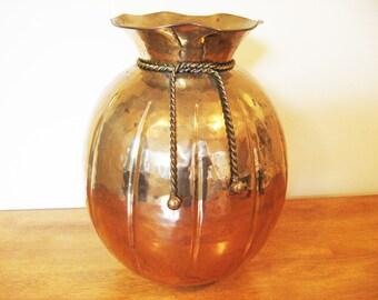 Large Brass Vase / Pot, Decorative Brass, Home Decor