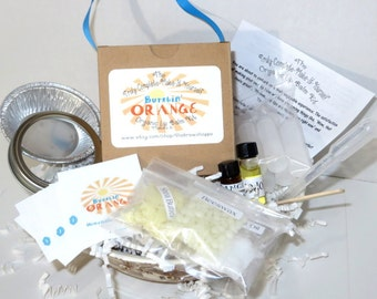 The Truly Complete Make It Yourself Organic BURSTIN' ORANGE Lip Balm Kit DIY