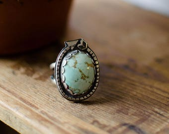 silver ring massif /turquoise, arrow, gypsy, ring worked, black and white, big ring