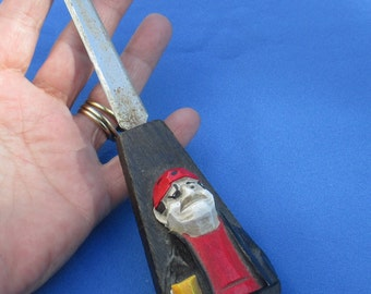 Retro Pirate Wood Metal Letter Opener
