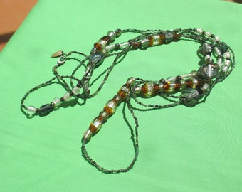 Retro Coldwater Creek Extra Long Glass Beaded Necklace TLC