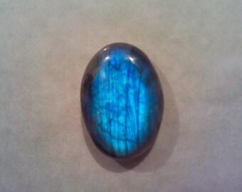 Round, Vibrant Blue Labradorite, Spectrolite 13x18mm Cabochon, X011
