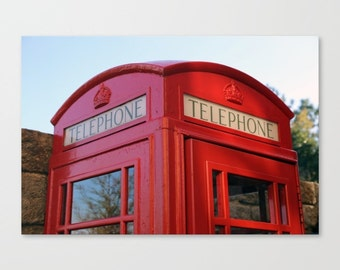 Telephone booth, Red Phone Booth, London Phone Kiosk, British Phone booth, Britain Telephone Kiosk, Print, Photograph, K1, K2, K6, Uk Phone