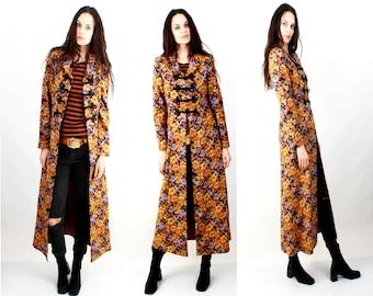 Floral Jacket / Floral Coat / Long Coat / Cotton jacket / Maxi Jacket / Feminine Jacket Size S / M