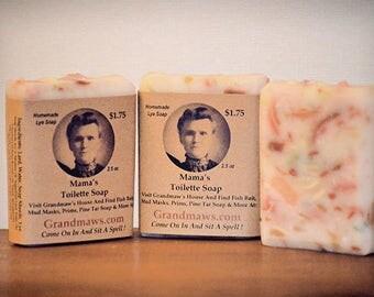 Mamas Toilette Soap / Handmade Lye Soaps / Redneck Hillbilly Gifts