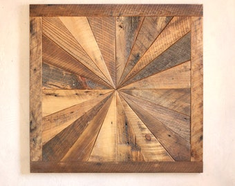 Reclaimed Wood Quilt Square 36 Inch By Grindstonedesign On