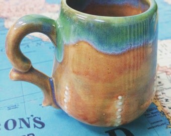 Pottery mug, coffee mug, ceramic teacup, Mother's Day