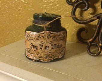 Frog parts potion bottle decor