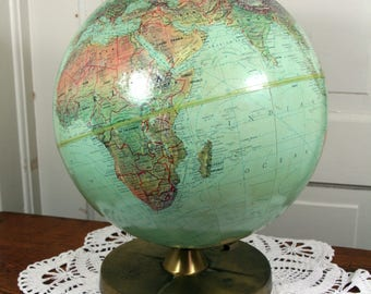 Retro globe-Reploge-Better Homes and Gardens-office decor-USSR intact-desk globe