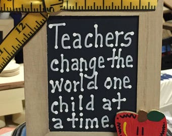 Teacher Gift  913504DC  Teachers change the world one child at a time Pencil  Box