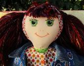 Hand made rag doll Flossie