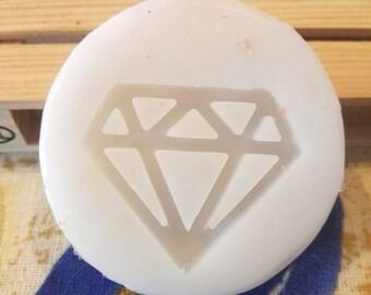Diamond. silicone rubber mold