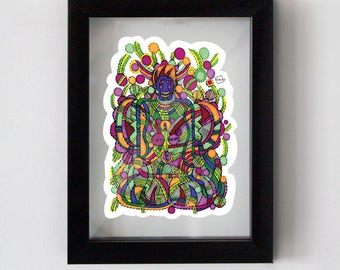 """Avatar print, 7"""" x 9"""" framed under glass and ready to hang"""