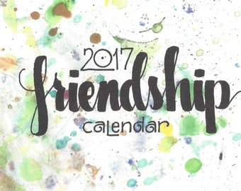 2017 friendship calendar