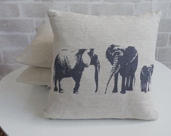 Elephant Cushion – nursery decor - elephant decor - baby gift - baby pillow - elephant pillow - handmade - animal pillow - animal cushion