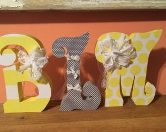 Custom wood letters. Wood letters. Nursery letters. Nursey wood decor. Baby shower decor baby shower gift Wedding decor