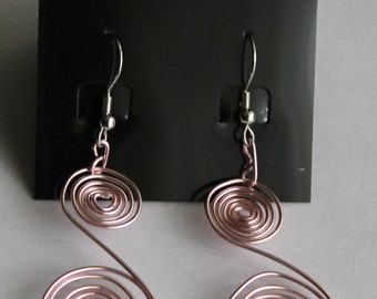Reverse Swirl Dangle Earrings