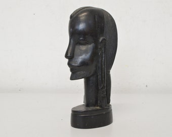 African ebony head from Durban in the 70s