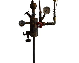 Industrial Steampunk Style Table Lamp with Vintage Look Edison Light Bulb, 30″H, PA 4762, Shipping Not Free!!!