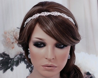 Wedding Hair Accessory Bridal Headband Crystal Headpiece Bride Party Prom Headpiece Head Hair Band Piece Tiara Jewelry Bridal Accessories