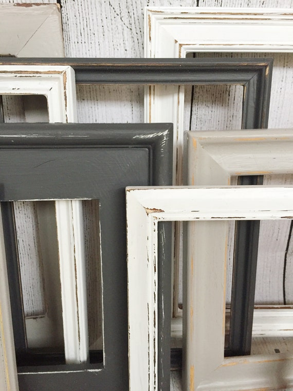 distressed window decor rustic wall decor farmhouse wall decor distressed frames