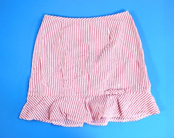 70s/80s Pink Cotton Candy Byerware Too! Striped Skirt