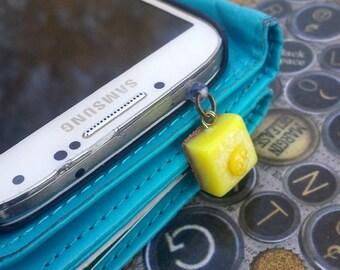 Lemon bar cellphone charm