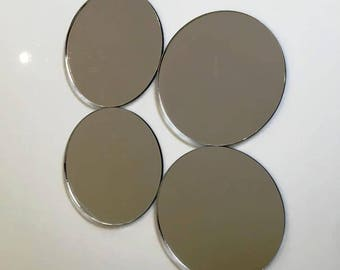 "Silver Mirror Acrylic Circle Crafting Mosaic & Wall Tiles, Sizes: 1cm to 20cm - 1"" to 7.9"""