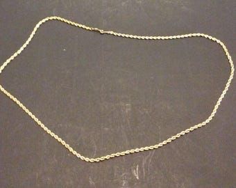 Vintage goldtone rope necklace Napier