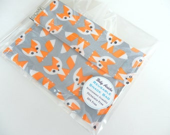 Reusable Snack Bag  Made with ProCare® Food Safe BPA Free Waterproof Fabric - Organic Fox