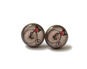 BIRDS EARRINGS - ROBIN birds earrings - Bird studs - Quirky earrings - Bird jewellery - Gift for her - Love Bird Cute Bird Jewelry - for mum
