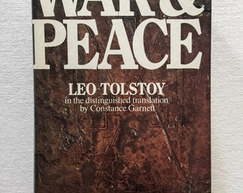 War And Peace/ Leo Tolstoy/ 1972/ vintage book/ collectable