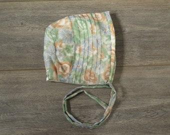 3-6m size pin tuck bonnet