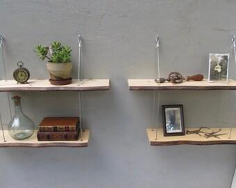 live edge shelves, display shelving, shelving system,wall shelves, home decor