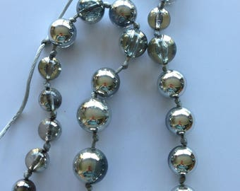 Necklace - high quality round and transparent and silver beads very large chunky beads necklace