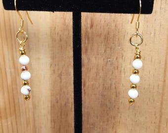 Natural Howlite Drop Earrings