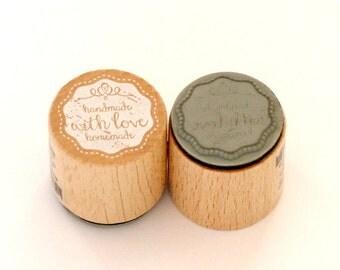 Stamp around handmade homemade with love
