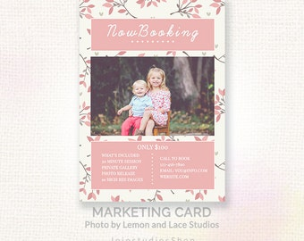 Mini Session Template, Photography Mini Session Marketing, Instant Download Marketing Template, Vintage Floral Design Template, cb132
