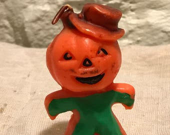 1950's gurley pumpkin scarecrow candle