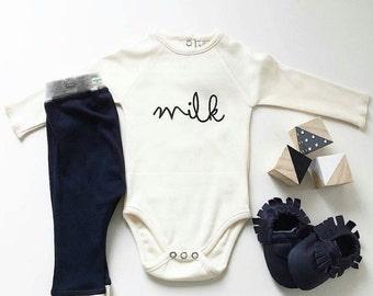 Milk Monochrome Design Toddler Infant Newborn Adult Shirt