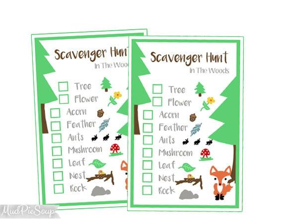Printable Nature Scavenger Hunt Game Cards